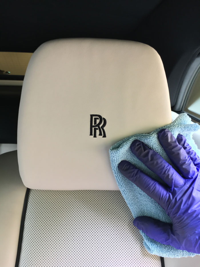 rolls royce interior cleaning