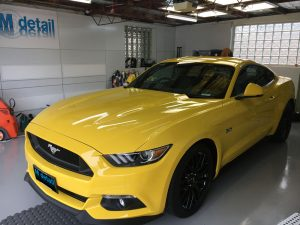 ford mustang car detailing